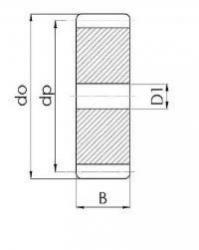 Moduul 2 Z=120 Tandwiel